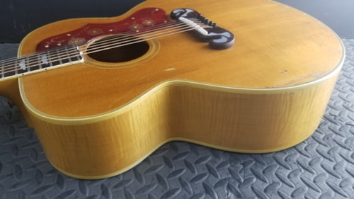 BEAUTIFUL VINTAGE 1965 GIBSON J-200 JUMBO NATURAL PLAYS GREAT NARROW NUT MONSTER TONE