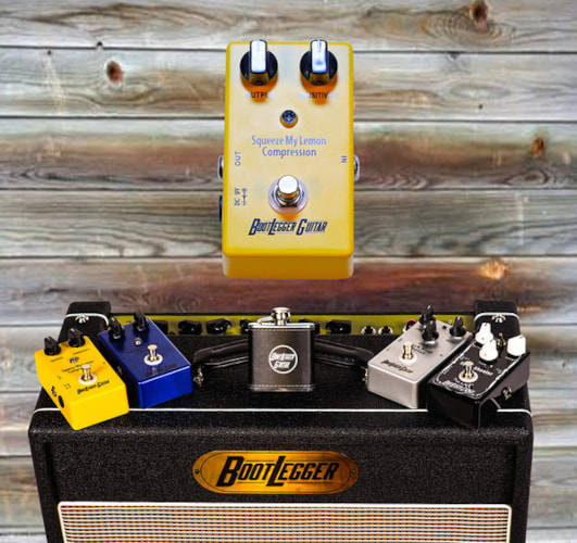 BootLegger Guitar Squeeze Your Lemon Compression Yellow, Brand New