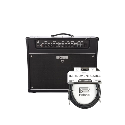 Boss Katana Artist 100W 1x12 Guitar Combo Amplifier Black Cable Bundle
