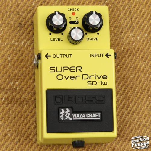 Boss SD-1w Super Overdrive Waza Craft Brand New