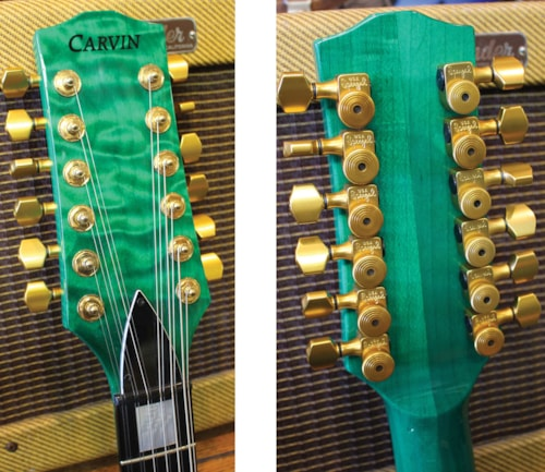 ~2000 CARVIN DC127-12 Lefty Green