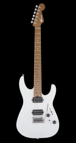 Charvel USA Select Dinky 24 HH 2 Point Trem, Caramel Maple Neck - Satin White (Pre-Order)