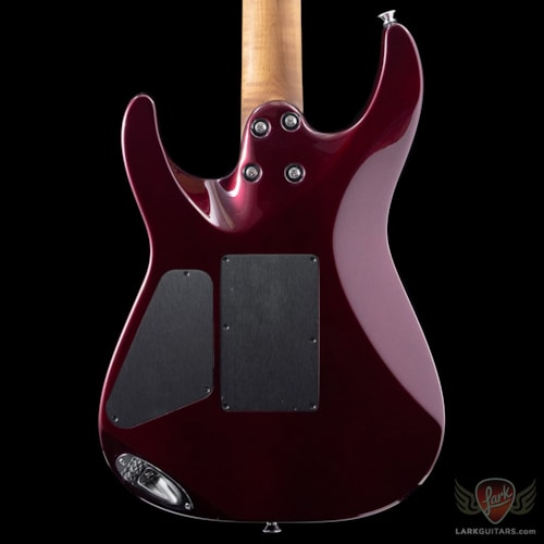 Charvel USA Select Dinky 24 HH 2 Point Trem, Caramel Flame Maple Neck - Oxblood (In-Stock)