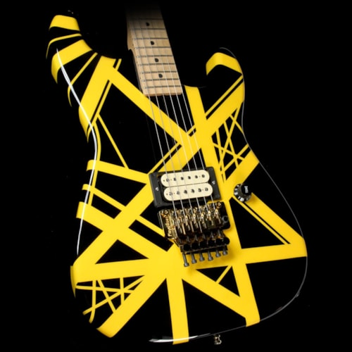 Charvel Used Charvel EVH Art Series Electric Guitar Black & Yellow Excellent, $1,999.00