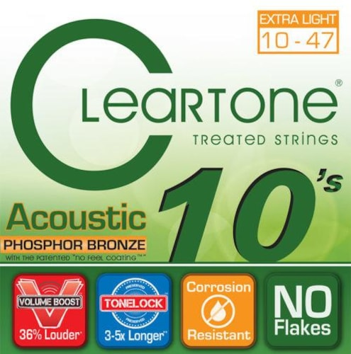 Cleartone Extra Light Acoustic Guitar Strings