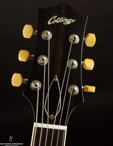 Collings Guitars Collings I-35LC Jet Black Aged Lacquer w/Throbaks & Trapeze Tailpiece Black