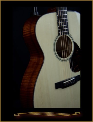 Collings OM1 with German Spruce Top and Spanish Cedar Back & Sides Natural, Brand New, Hard