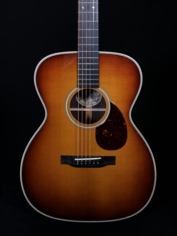 """Collings OM2H with Sunburst Baked Sitka Spruce Top and 1 3/4"""" Nut Width Option"""