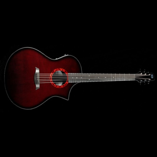 Composite Acoustics The GX ELE Narrow Neck Acoustic Wine Red Brand New