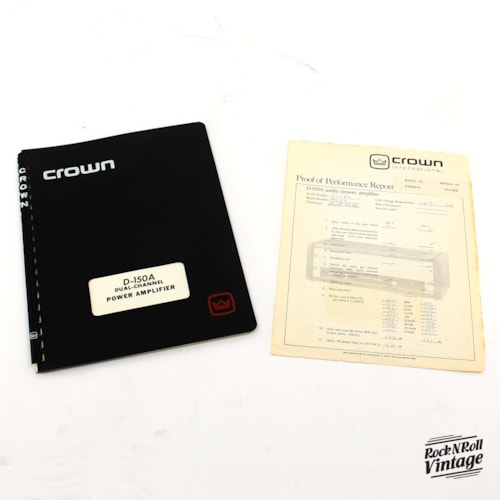 Crown D150a Series II Power Amplifier Excellent, $195.00