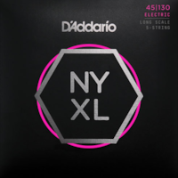 D'Addario D'Addario NYXL45130 5-String Nickel Wound Regular Light Bass Strings 45-130