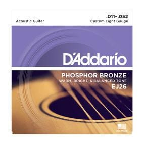 D'Addario EJ26 Phosphor Bronze, Custom Light, 11-52 Brand New $5.99