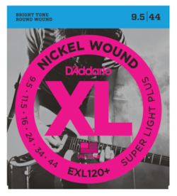 D'Addario EXL120+ Nickel Wound Super Light Plus Electric Strings 9.5-44