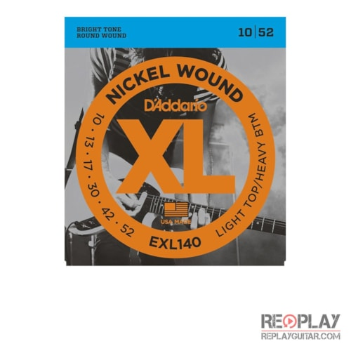 D'Addario EXL140 Nickel Wound, Light Top/Heavy Bottom, 10-52 Brand New $5.49