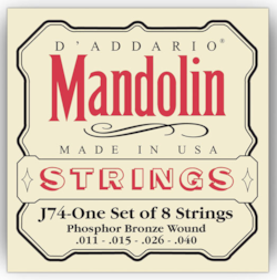 D'Addario J74 Phosphor Bronze Medium Mandolin Strings 11-40