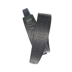 D'Addario Leather Guitar Strap, Alligator Embossed