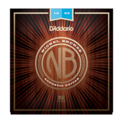 D'Addario NB1253 Nickel Bronze Acoustic Guitar Strings, Light 12-53
