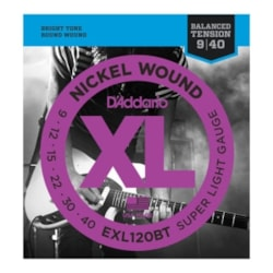 D'ADDARIO XL Nickel Wound Super Light Gauge Balanced Tension Electric Guitar Strings