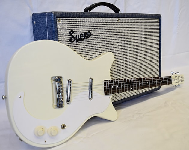 Danelectro D59M Plus NOS Gloss White, Brand New