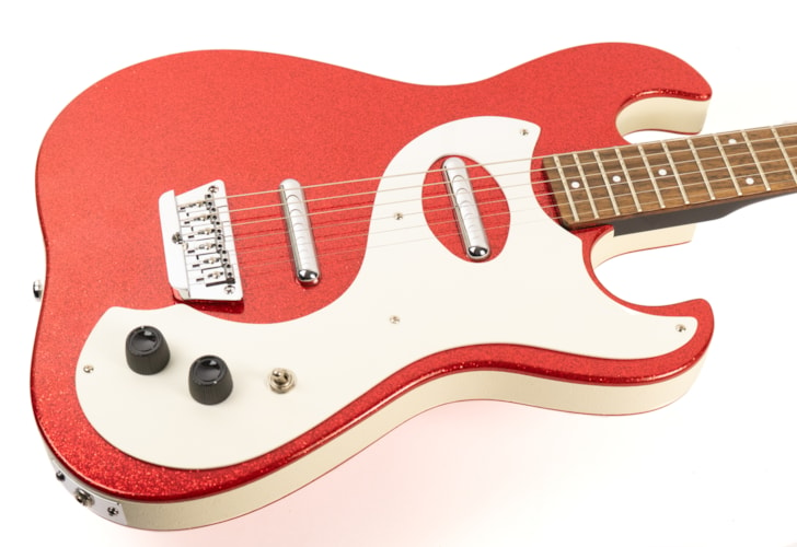Danelectro D63 Red Sparkle, Very Good, $399.00