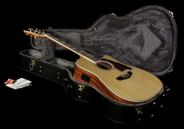 D'Angelico Used D'Angelico SD-400 Brooklyn Dreadnought Acoustic/Electric Guitar Natural Natural, Excellent, $729.00