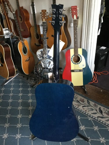 Dean Playmate DG-1 Acoustic Guitar Blue, Very Good
