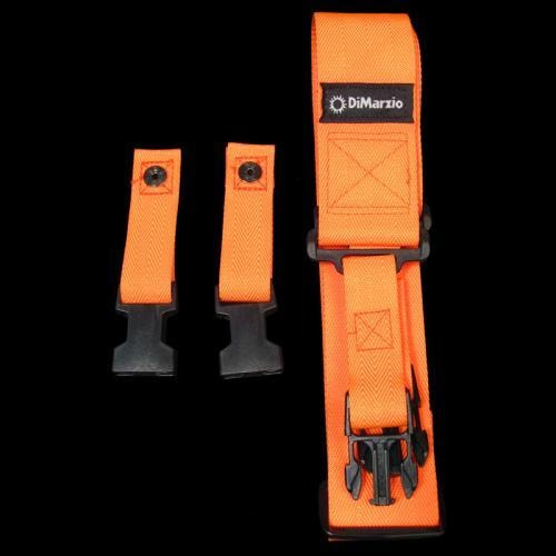 DiMarzio Cliplock Guitar Strap (Neon Orange)