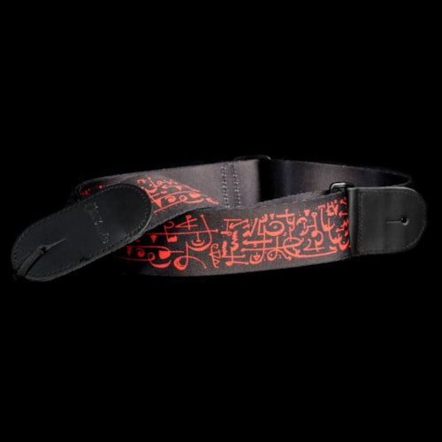 DiMarzio Steve Vai Cliplock Guitar Strap Art Print with Leather Ends Brand New, $19.99