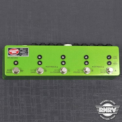 Disaster Area DPC-8EZ Gen3 Programmable Bypass Switcher with MIDI - Granny Smith Green Sparkle