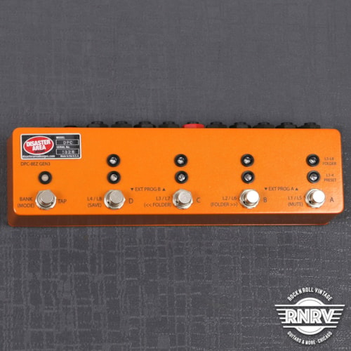 Disaster Area DPC-8EZ Gen3 Programmable Bypass Switcher with MIDI - Camino Orange