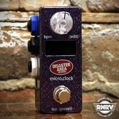 Disaster Area micro.clock Tap Tempo MIDI Clock Controller - Grape Soda Sparkle Brand New $99.99