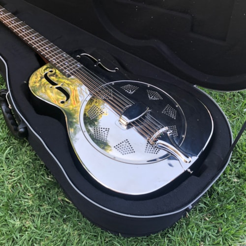 Dobro Hound-Dog M14 Metal body Acoustic Round Neck Resonator Guitar