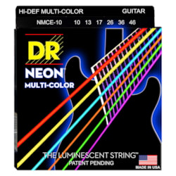 DR Strings Hi-Def NEON MultiColor Coated, 10-46
