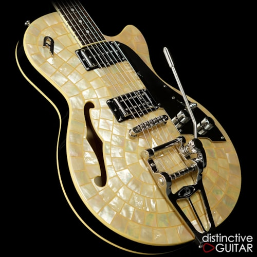 Duesenberg Star Player TV Ice Pearl, Excellent, Original Hard