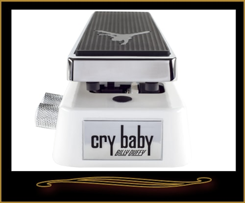 Dunlop BD95 Billy Duffy Signature Wah Pedal White and Chrome, Brand New