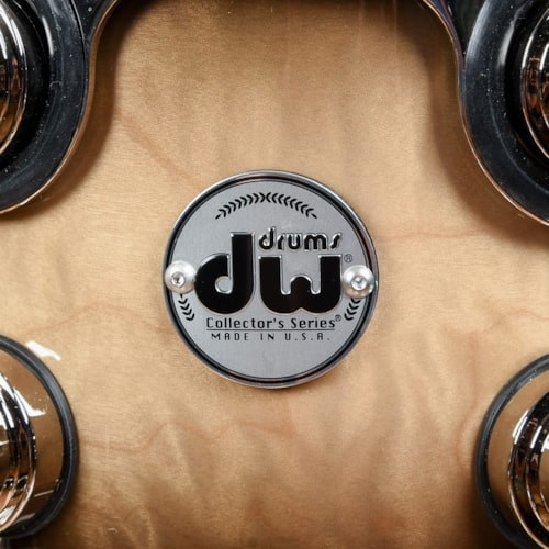 DW Collector's Series 10/12/16/22 4pc. Exotic Drum Kit Candy Black Burst Quilted Maple w/Nickel Hardware (333 Shells)