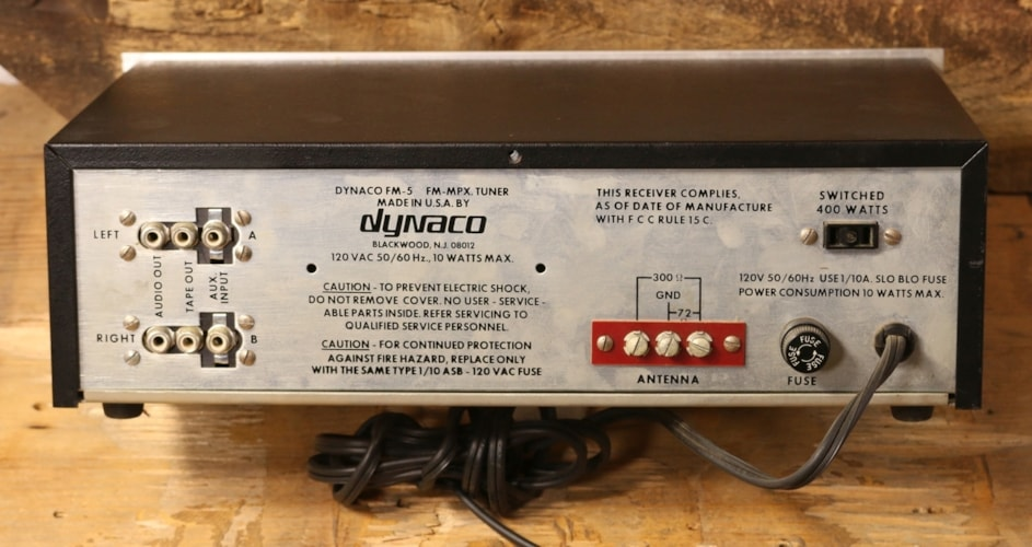 Dynaco FM-5 FM Tuner with Box Excellent, $79.00