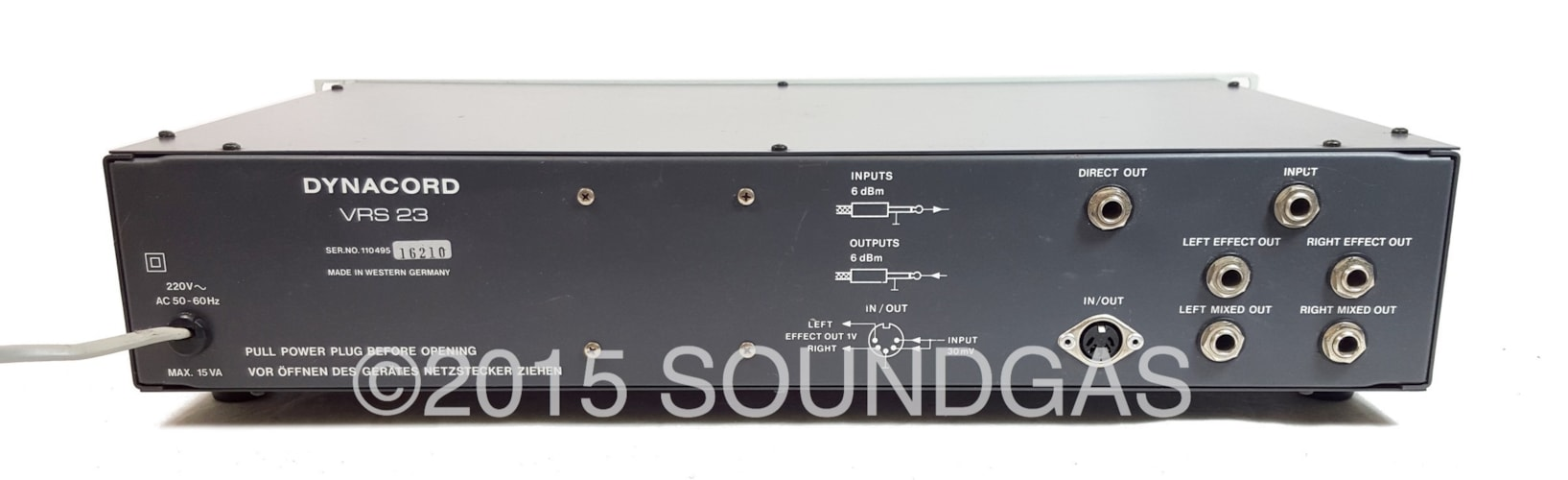 Dynacord VRS 23 Vertical Reverberation System Excellent, $680.00