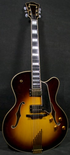 EASTMAN Jazz Elite 17 Custom 2pups 30014 sunburst, Brand New, Original Hard
