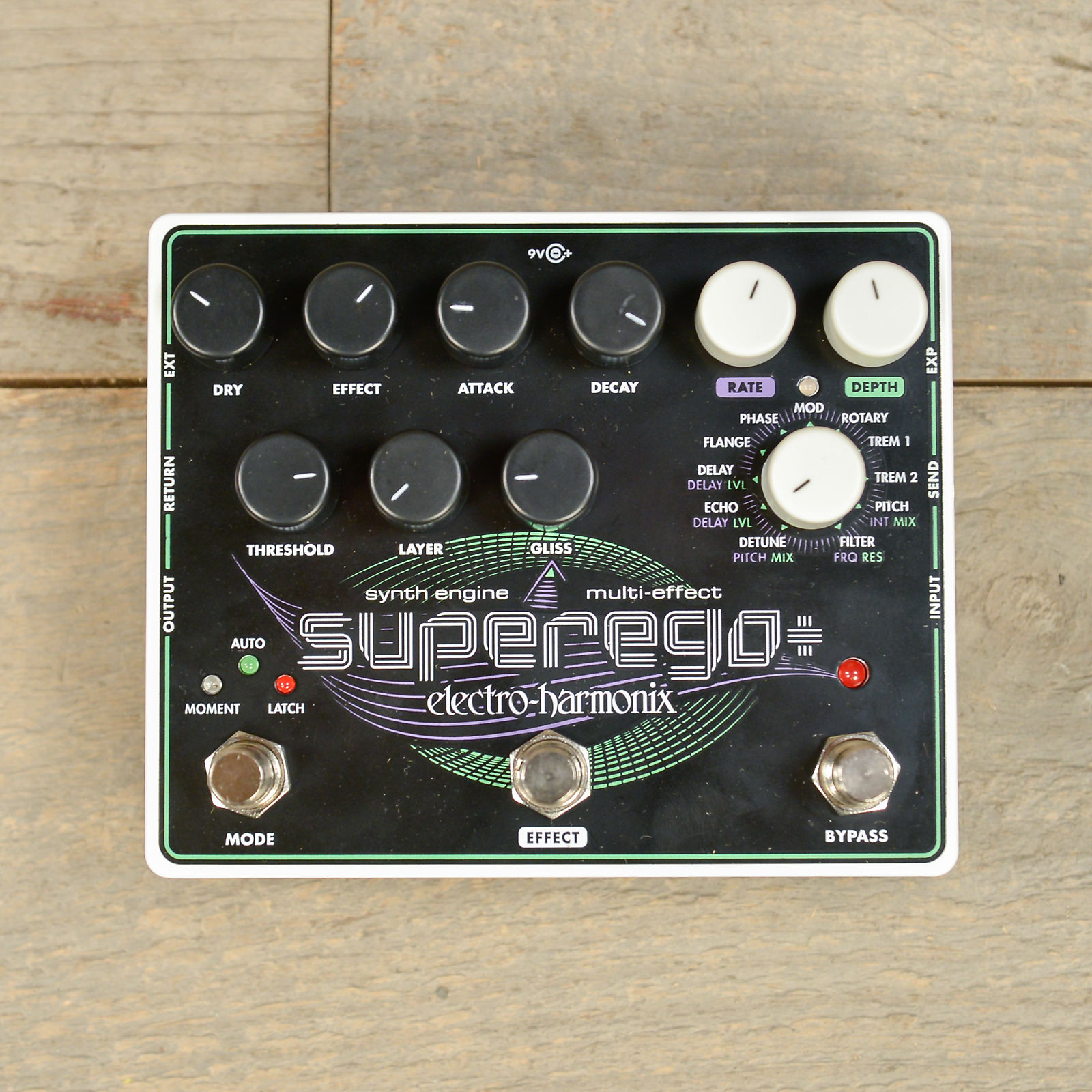 Electro-Harmonix SuperEgo Polyphonic Synthesis Engine Guitar Effects Pedal