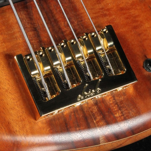 Elrick eVolution Gold Series 4-String Bass Koa Top Natural Brand New
