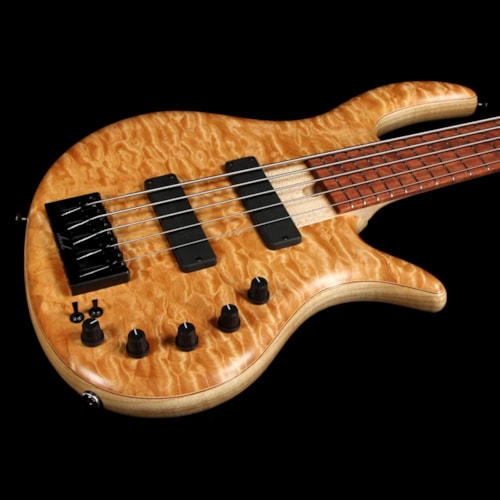 Elrick eVolution Gold Series 5-String Electric Bass Quilt Top Natural
