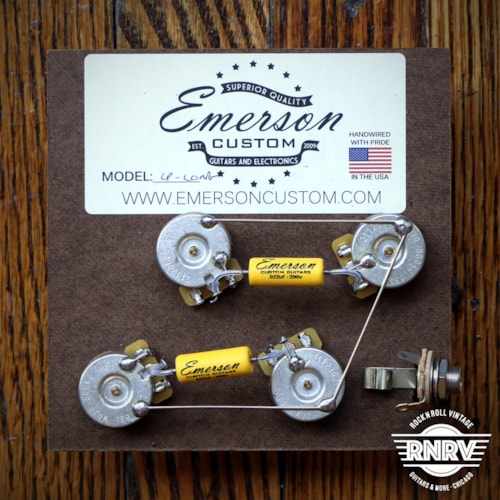 Emerson Custom 50's Style Pre-Wired Long Shaft Les Paul Harness Brand New $88.00