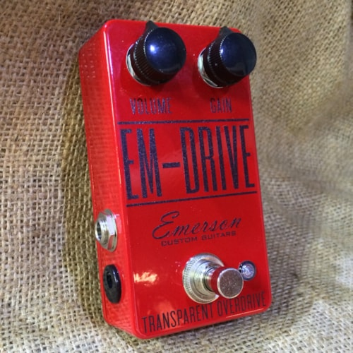 Emerson Emerson EM-Drive Transparent Overdrive Pedal Sanctuary Red, Brand New, $99.00
