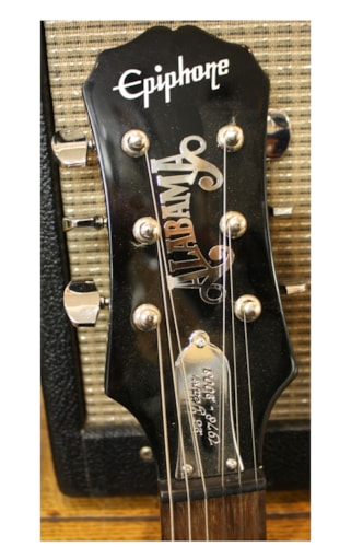 Epiphone Alabama  Les Paul Junior Black with graphics, Near Mint, GigBag