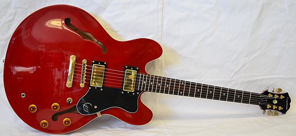 Epiphone Dot Deluxe Cherry Red, Very Good, Hard, $349.99