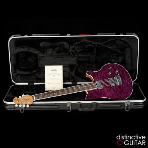 ERNIE BALL MUSIC MAN Axis Super Sport BFR Purple Quilt BFR, Brand New, Original Hard