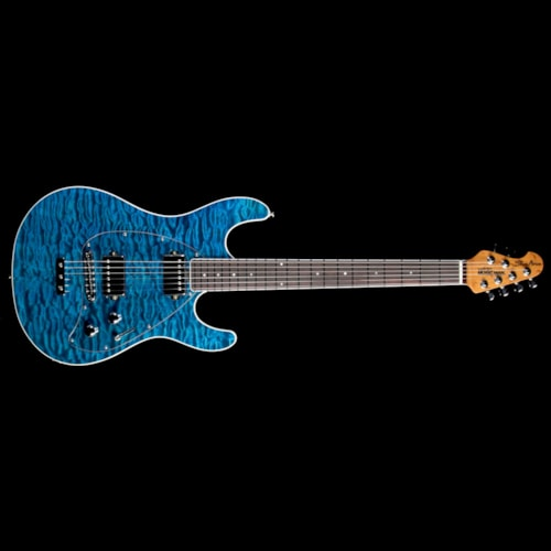 ERNIE BALL MUSIC MAN Ball Family Reserve Steve Morse HH Electric Guitar Tahitian Blue Quilt Brand New, $3,799.00