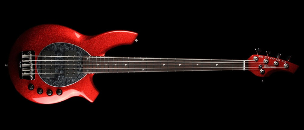 ERNIE BALL MUSIC MAN Bongo 5-String Electric Bass Cardinal Red Sparkle Cardinal Red Sparkle, Brand New, $1,837.50