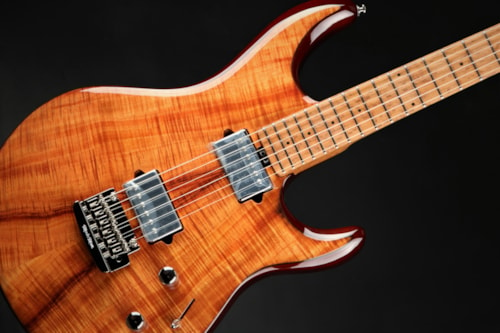 Ernie Ball Music Man Eddie's Guitars Exclusive BFR Luke III HH - Koa/Roasted Birdseye Maple